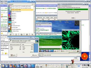 Se pueden ver varios software abiertos en sus respectivas ventanas