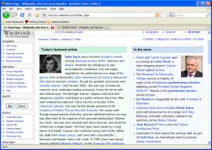 Firefox 3 BETA 5 visualizado en Windows XP